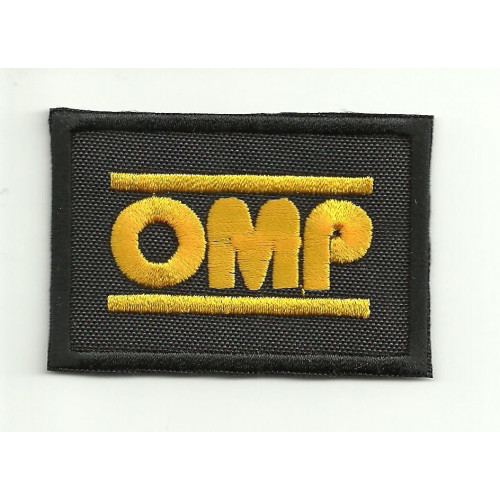 Patch embroidery OMP NEW BLACK YELLOW 3cm x 2cm