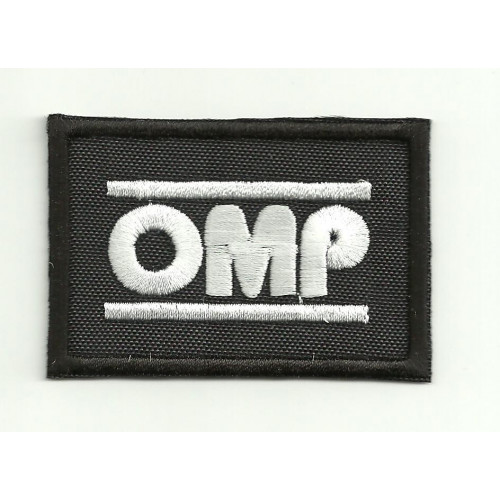 Patch embroidery OMP NEW BLACK WHITE 3cm x 2cm
