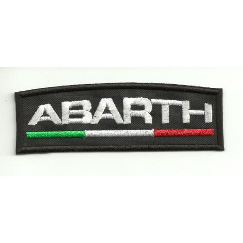 Parche bordado ABARTH NEGRO 4,5cm x  1,5cm