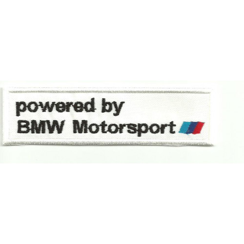 Patch embroidery POWERED BY BMW MOTORSPORT 5cm x 1,5cm