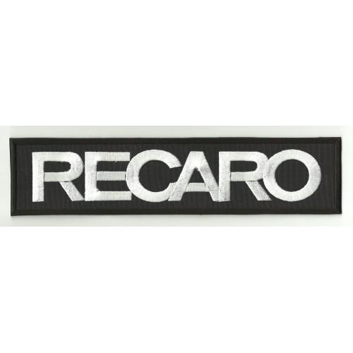 Patch embroidery RECARO BLACK / WHITE 4,5cm x 1,3cm