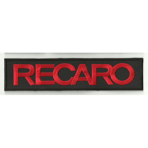 Patch embroidery RECARO BLACK / RED 4,5cm x 1,3cm