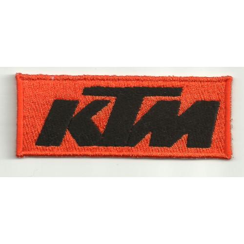 Parche bordado KTM  NARANJA NEGRO 8cm x 3cm