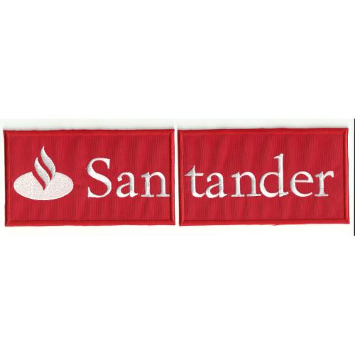 Parche bordado  BANCO SANTANDER ROJO PARTIDO  28cm x 8cm