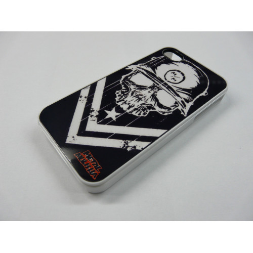 IPHONE 4 Y 4S METAL MULISHA BLANCO Y NEGRO