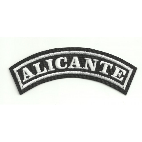 Embroidered Patch ALICANTE 15cm x 5.5cm