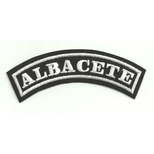 Embroidered Patch ALBACETE 11cm x 4cm