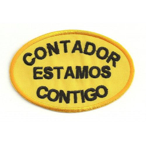 Embroidery  patch CONTADOR ESTAMOS CONTIGO 9cm x 6cm