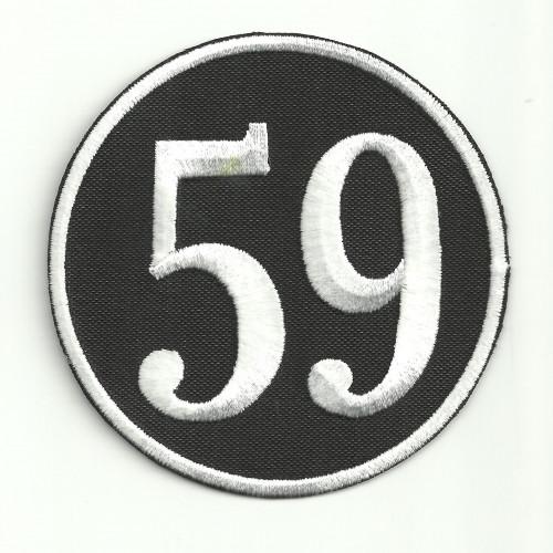 Parche bordado  AC CAFE CLUB 59  8cm