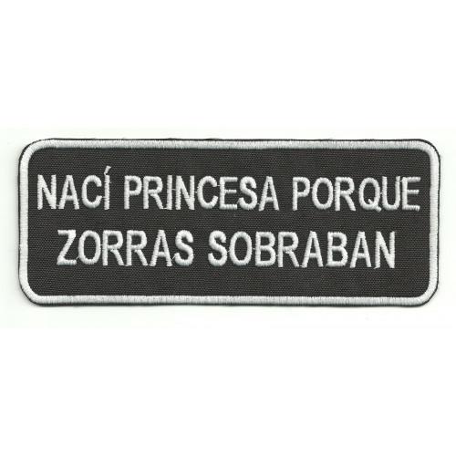 Parche bordado NACI PRINCESA 14cm x 5,5cm