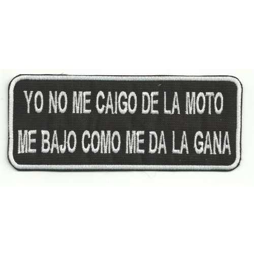 Patch  embroidery YO NO ME CAIGO 14cm x 5,5cm