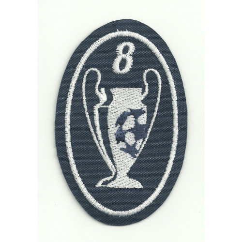 Embroidery patch  8 CUPS CHAMPIONS 5CM X 7,5cm