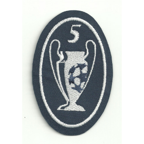 Embroidery patch  5 CUPS CHAMPIONS 5CM X 7,5cm
