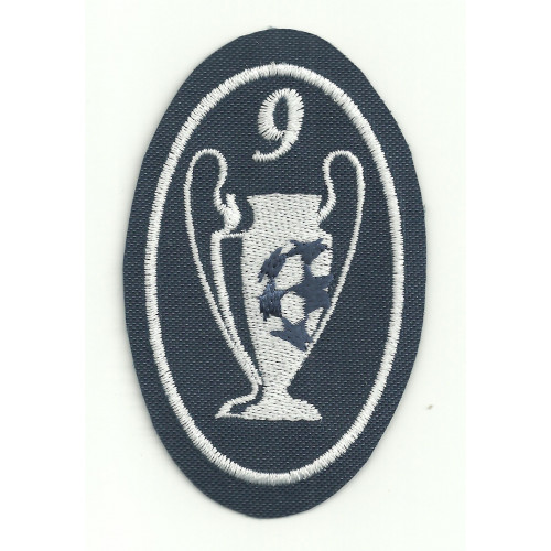 Embroidery patch  9 CUPS CHAMPIONS 5CM X 7,5cm