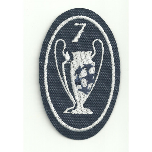 Embroidery patch  7 CUPS CHAMPIONS 5CM X 7,5cm