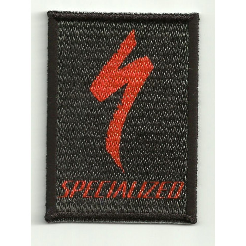 Patch embroydery SPECIALIZED NEGRO 5cm x 7cm
