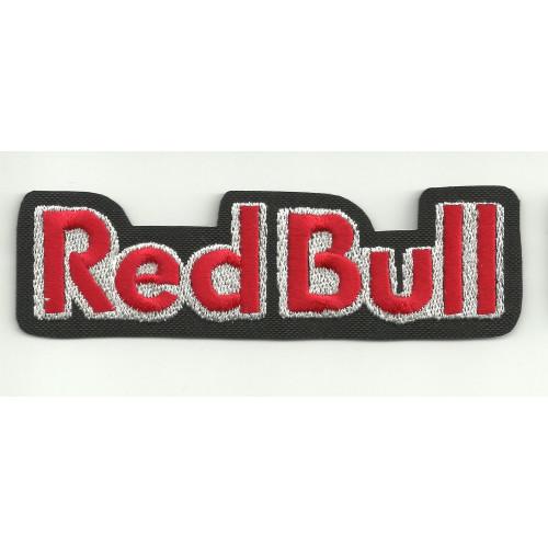 Parche bordado RED BULL NEGRO letras 25cm x  7,5cm