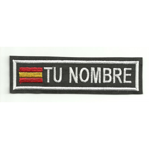 Embroidery Patch FLAG WITH YOUR NAME 5cm X 1,4cm