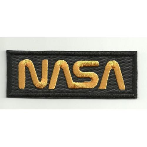 Parche bordado  NASA NEGRO   9cm x 3,5cm
