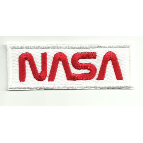 Parche bordado  NASA BLANCO   9cm x 3,5cm
