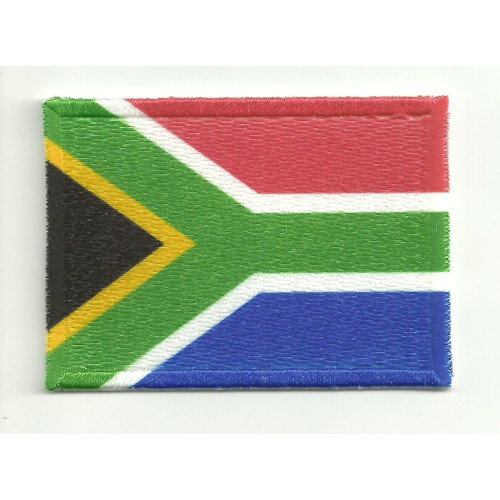 Patch embroidery and textile FLAG SOUTH AFRICA   5cm x 3cm