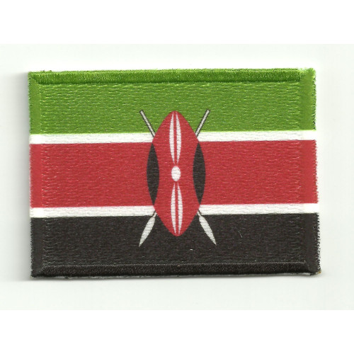 Patch embroidery and textile FLAG KENYA  5cm x 3cm