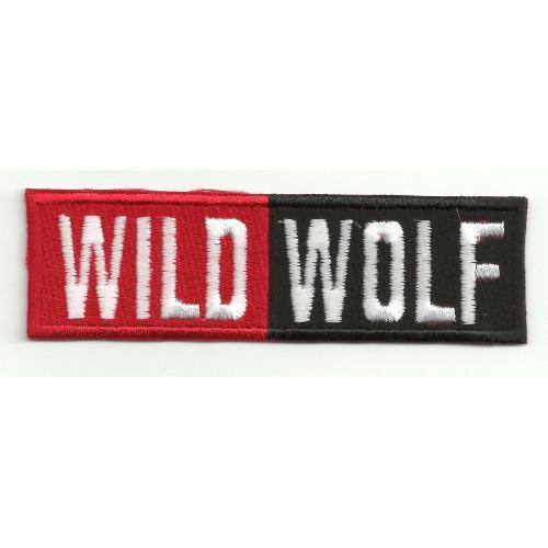 Parche bordado WILD WOLF  10cm x 3cm