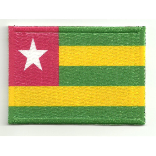Patch embroidery and textile FLAG BURKINA TOGO  7cm x 5cm