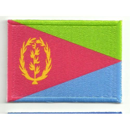 Parche bordado y textil ERITREA  7cm x 5cm