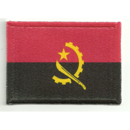 Patch embroidery and textile ANGOLA  7CM x 4CM
