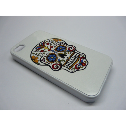 IPHONE 4 Y 4S CALAVERA FLORES