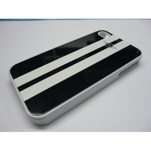 IPHONE 4 AND 4S MINI COOPER WHITE AND BLACK