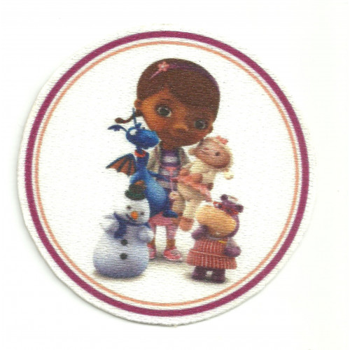 31 Textile patCH DOCTORA JUGUETES 8cm