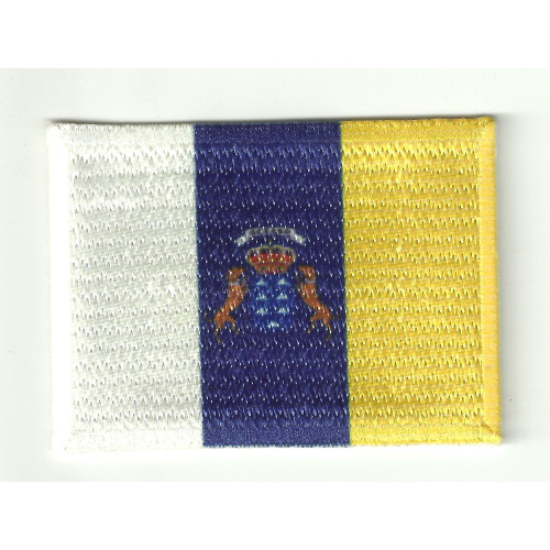 Patch embroidery and textile bandera  CANARIAS 7CM X 5CM