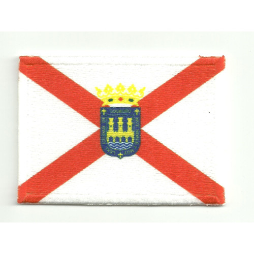 Patch embroidery and textile FLAG LOGROÑO 4CM X 3CM