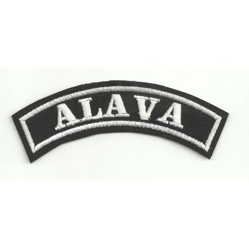 Parche bordado ALAVA 14cm x 5,5cm