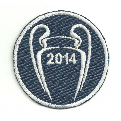 Embroidery patch  CHAMPIONS 2014 REAL MADRID 7cm