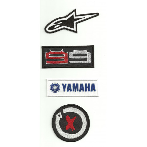 Parches bordados JORGE LORENZO  pack 4u