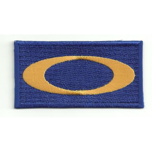 embroidery  patch  OAKLEY BLUE  8cm x 4cm