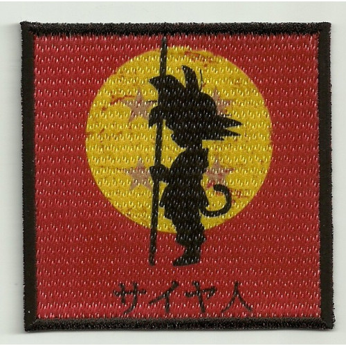 Patch embroidery and textile SON GOKU 7,5cm x 7,5cm