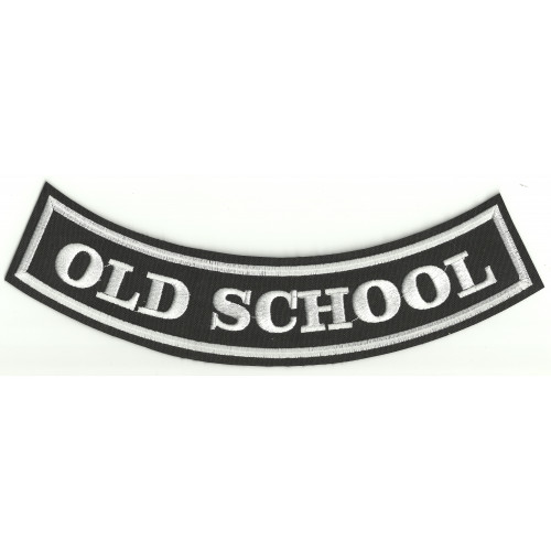 Parche bordado OLD SCHOOL 25cm x 8cm