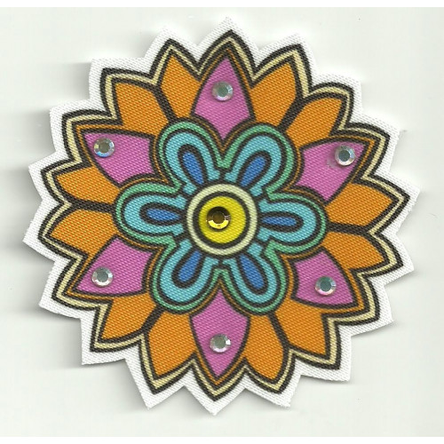 Patch embroidery and textile MICKIE 7,5cm diametre
