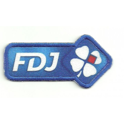 Embroidery and textile  patch FDJ   8cm x 4cm