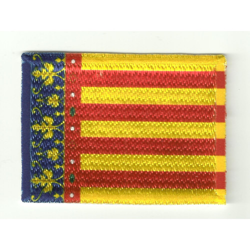Patch embroidery and textile FLAG COMUNITAT VALENCIANA 4CM X 3CM