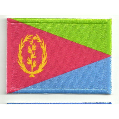 Patch embroidery and textile ERITREA  5cm x 3cm