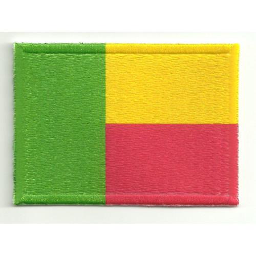 Parche bordado y textil BENIN 7CM x 4CM
