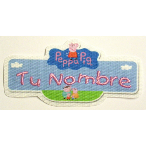 Embroidery Patch FLAG WITH YOUR NAME 10cm X 2.8 cm NAMETAPE