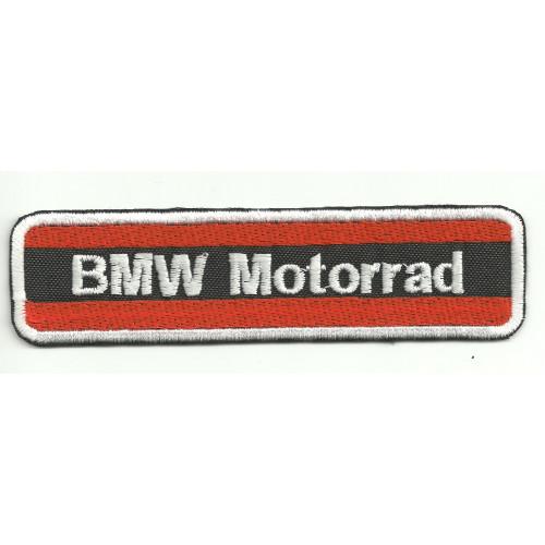 Parche bordado  BMW MOTORRAD NARANJA 12cm x3cm