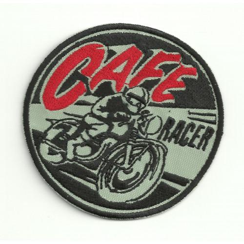 Parche bordado  CAFE RACER MOTO  8cm x 7,5cm