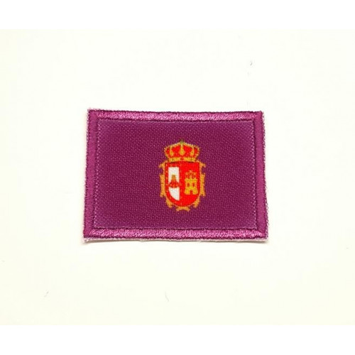 Patch embroidery and textile FLAG BURGOS 4CM X 3CM